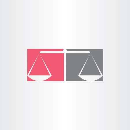 scales of justice vector symbol design