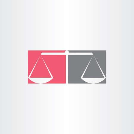 justice scale: scales of justice vector symbol design