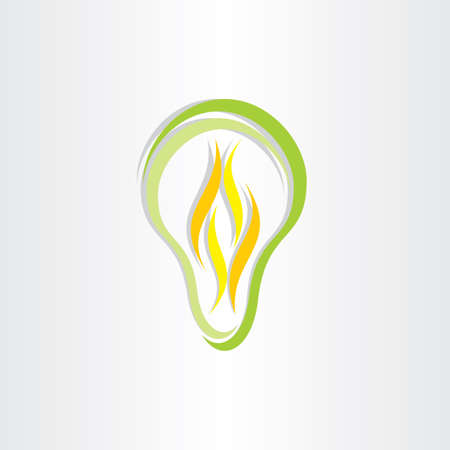 low energy: green eco low energy bulb icon design