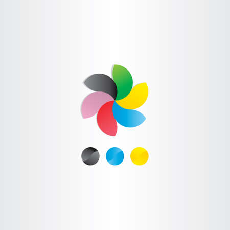 logotype: colorful business logotype vector icon design