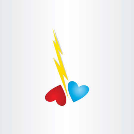 love hurts: broken heart thunder vector divorce love hurts concept