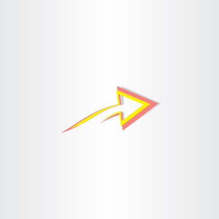 red yellow: red yellow abstract arrow symbol design