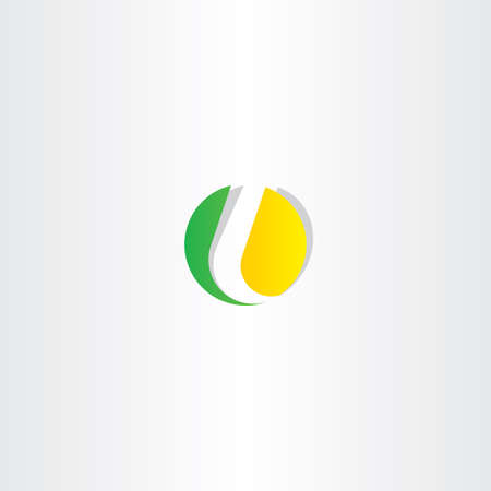 logo marketing: letter l yellow green circle symbol design