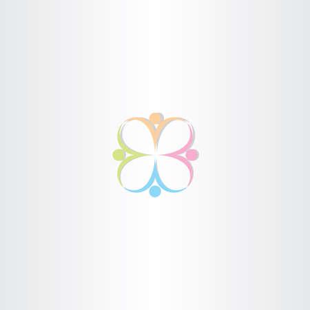 gönüllü: insanlar vektör logo vektör tasarımı