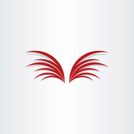 red vector wings abstract design element Illustration