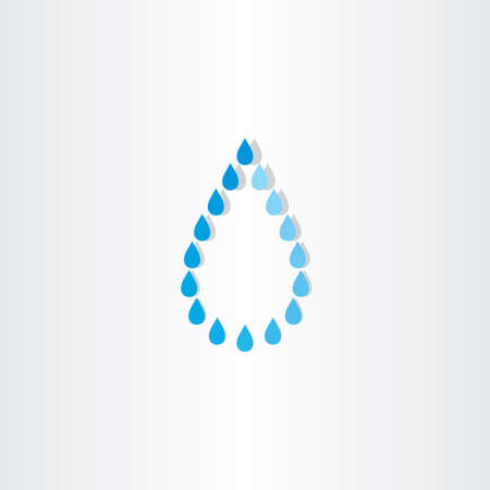 pure element: drop of water rain vector icon design Illustration