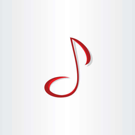 stylized musical note vector symbol design