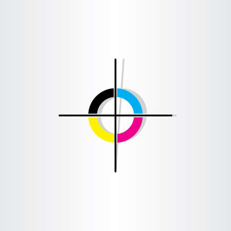 オフセット印刷登録マーク イラスト デザイン