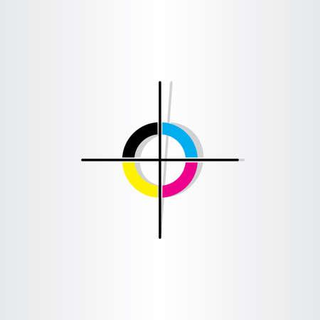 offset printing registration mark illustration design