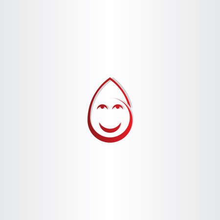 donor blood type: happy drop blood funny face icon design
