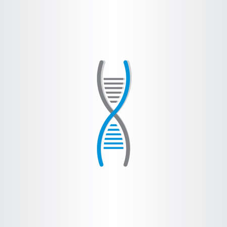 deoxyribonucleic: DNA vector symbol deoxyribonucleic acid icon design
