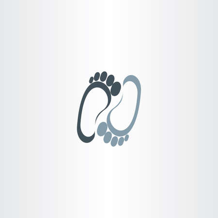 barefoot walking: human foot vector logotype icon sign Illustration