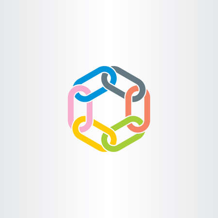 chain link vector symbol design element color