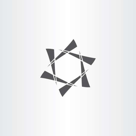 abstract business: black star hexagon abstract business icon design