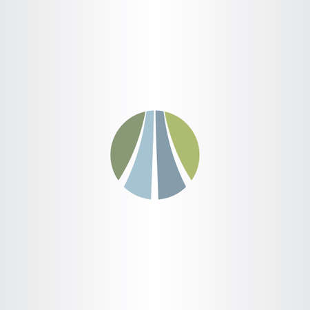 walkway: auto road icon highway logo vector symbol
