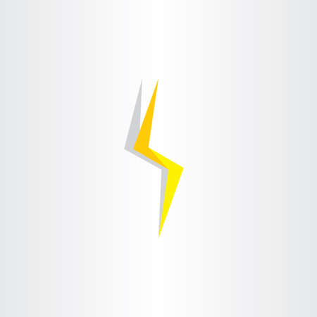 Thunder Lighting Bolt Yellow Flash Icon Design Stock Vector With