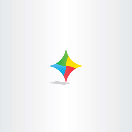 compass vector: colorful abstract technology logo icon element design