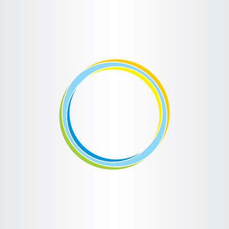 抽象円背景カラフルなデザイン要素ベクトル記号  イラスト・ベクター素材
