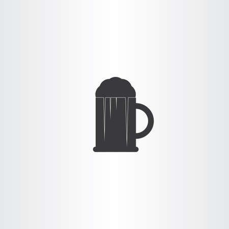 pint: glass of beer black vector icon symbol pint Illustration