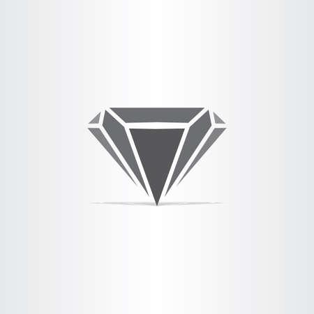 diamond stones: black diamond stylized icon logo design Illustration