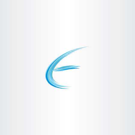 wave icon: blue letter e water wave icon logo