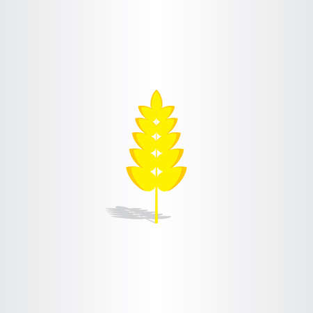 cereal plant: yellow plant wheat icon vector design cereal Illustration