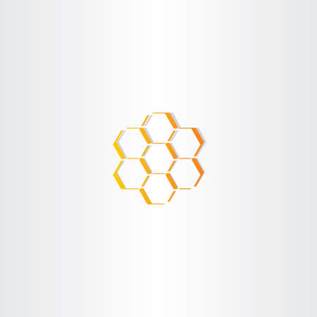 honey comb: abstract honey comb vector icon design symbol