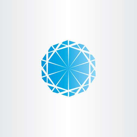 Blauer Diamant-Vektor-Symbol-Logo-Design Standard-Bild - 43646679