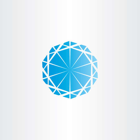 edelstenen: blauwe diamant vector icon logo design