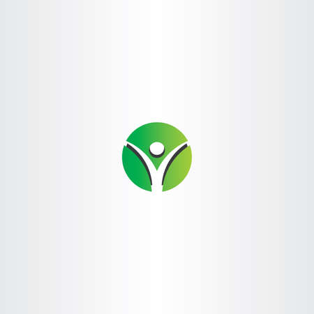 green man: green man circle logo sign design