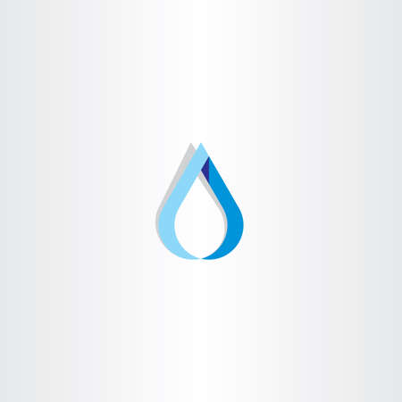 watery: drop of water blue logo sign symbol