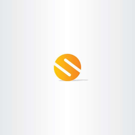 手紙のサークル オレンジ色のロゴ印数  イラスト・ベクター素材