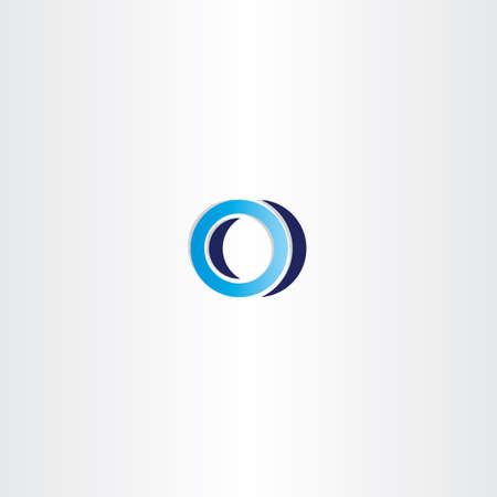 blue logotype sign letter o logo emblem  イラスト・ベクター素材