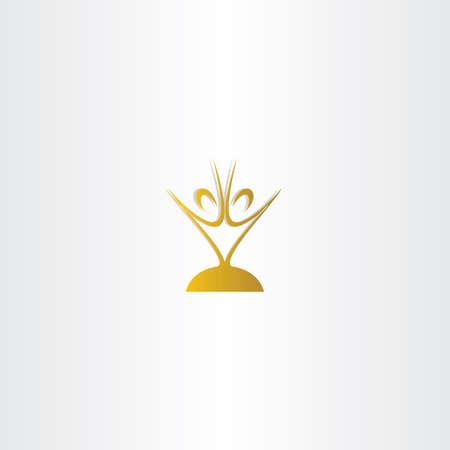 chalice: golden chalice people vector logo design