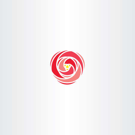 abstract rose: red rose vector icon stylized logo symbol