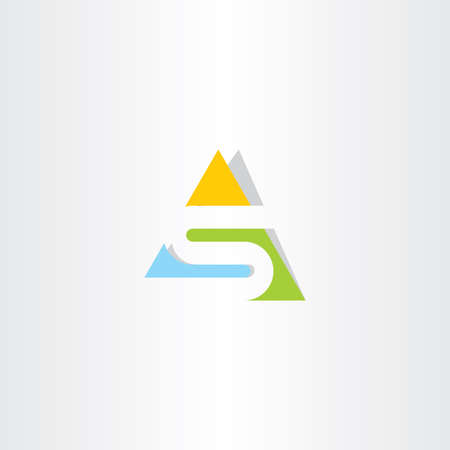 triangle logo letter s logotype icon sign