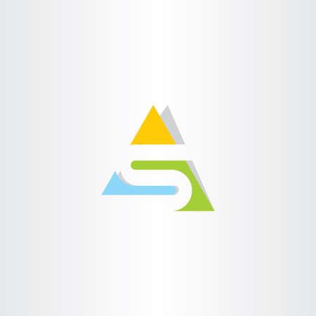 s ロゴ アイコン横の三角形のロゴ文字