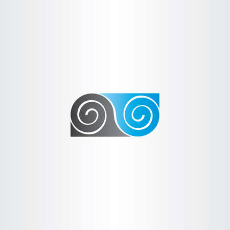 black and blue: black blue infinity spiral symbol logo emblem