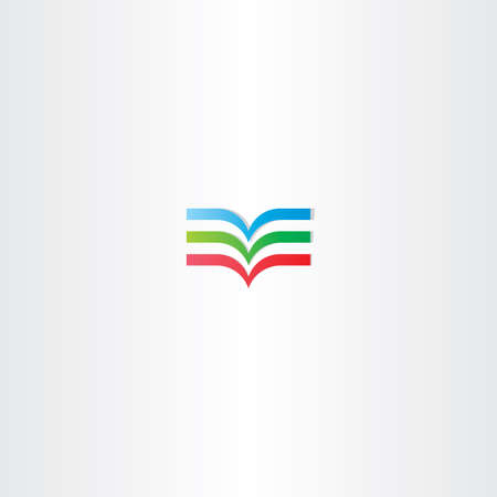 colorful book logo icon element sign symbol