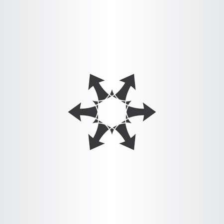 pointer emblem: black arrow circle icon vector element symbol