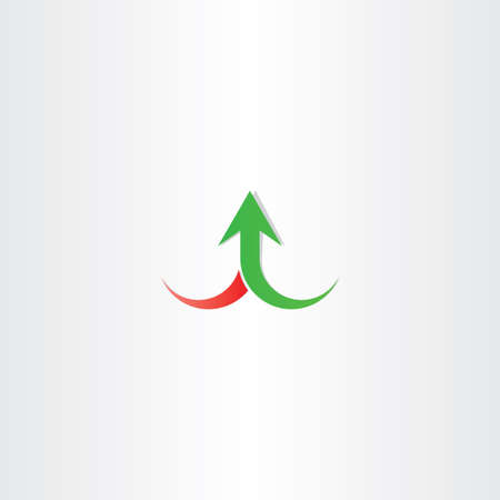 gain: arrow up growth symbol vector sign design gain