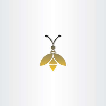 bee sign vector logo icon design
