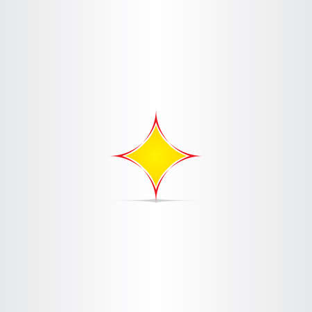 yellow star: yellow star button abstract icon symbol