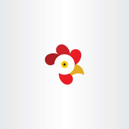 vector symbol: chicken or rooster head logo vector symbol Illustration
