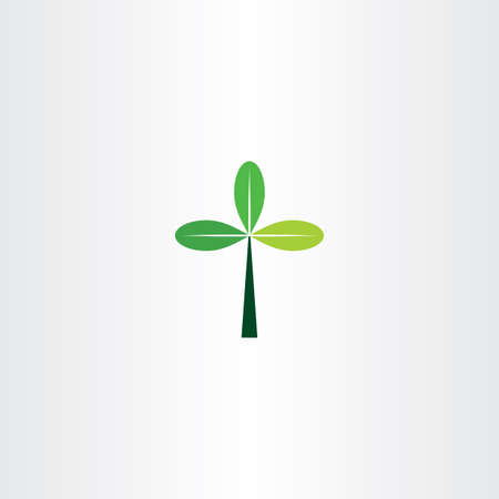 green cross: green cross tree leaf eco icon logo