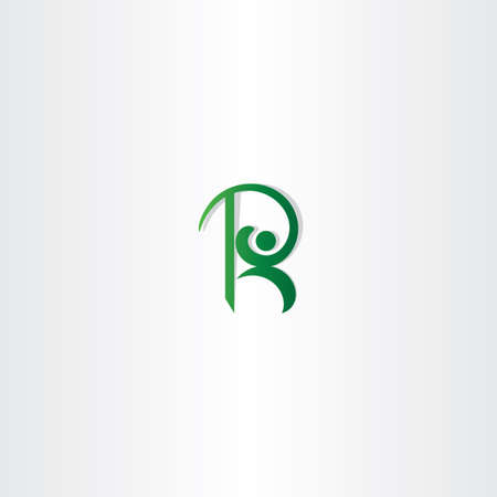 green man: letter r green man logo vector icon element sign Illustration