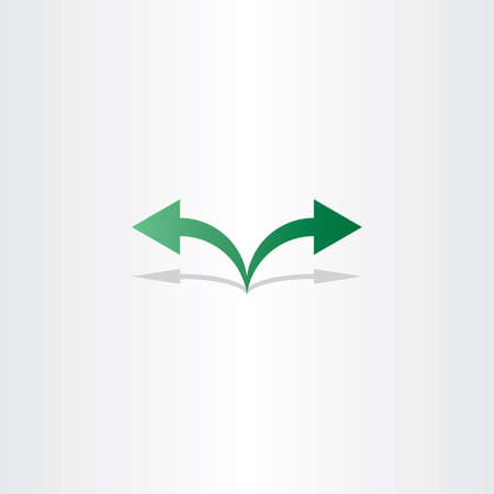 left right: green arrow left right icon logo sign Illustration