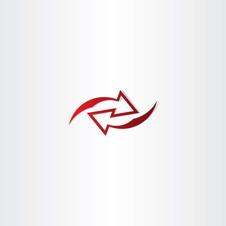 left right: left right red arrow logo icon design Illustration