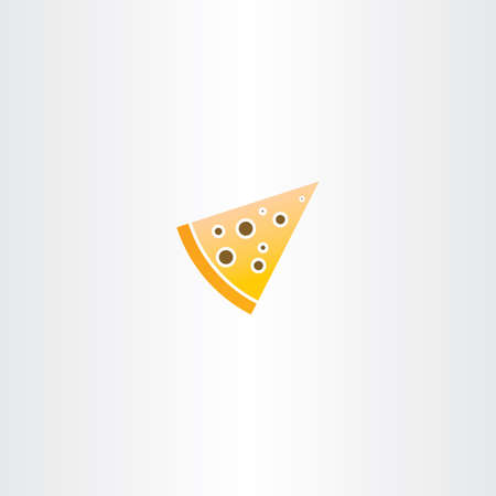 piece: vector pizza piece icon logo symbol Illustration