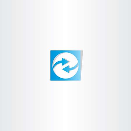 vector symbol: blue arrow square logo vector symbol